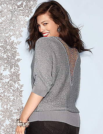 Sequin sweater by Lane Bryant