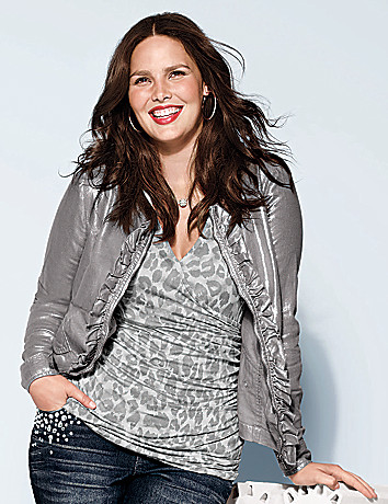 Full Figure Linen Jacket by Lane Bryant