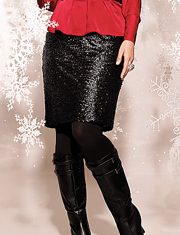 Plus Size Sequin Pencil Skirt by Lane Bryant