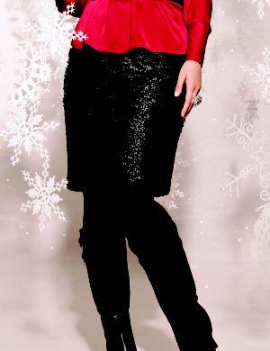 Matte sequin pencil skirt