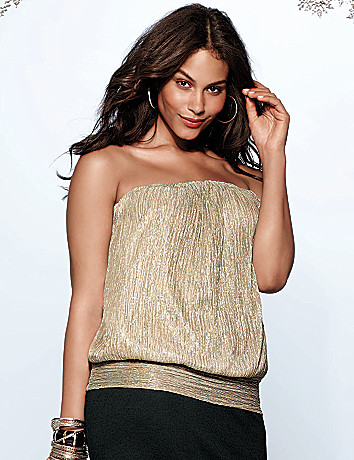 Plus Size Sparkle tube Top by Lane Bryant
