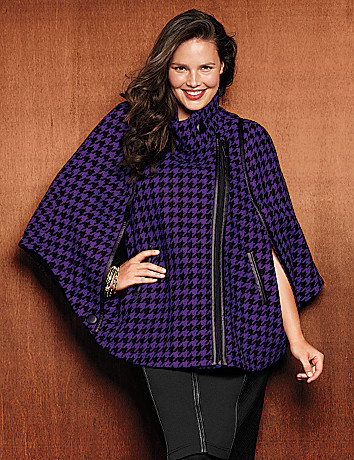 Houndstooth cape by Lane Bryant