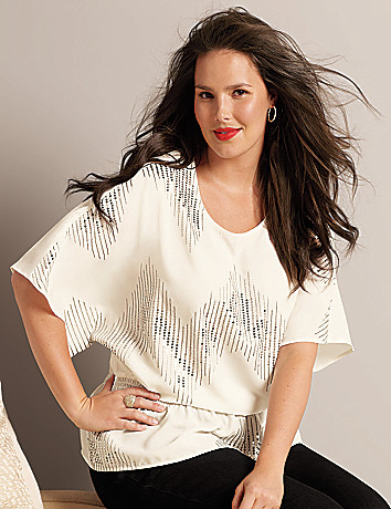 Sequin embellished blouse by Lane Bryant