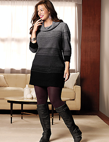 Plus Size Sweater Dress Tunic by Lane Bryant