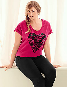 Awareness heart graphic tee