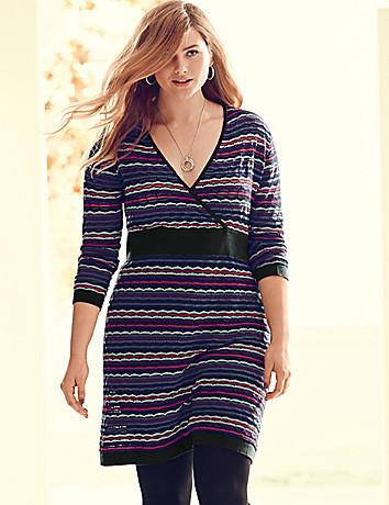 Intarsia sweater dress