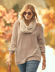 Side zip sweater