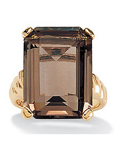 Smoky Quartz Ring by PalmBeach Jewelry
