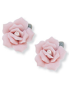 Ceramic Flower Earrings by PalmBeach Jewelry
