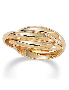 Rolling 14k gold-plated Ring by PalmBeach Jewelry