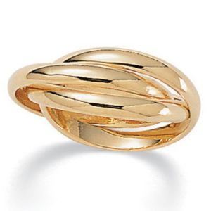 Rolling 14k gold-plated Ring