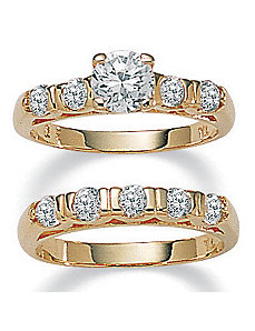 Roundcubic zirconia Wedding Set by PalmBeach Jewelry