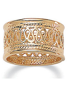 Open-Weave Band by PalmBeach Jewelry
