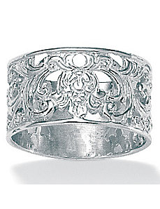 Silver Filigree Band by PalmBeach Jewelry