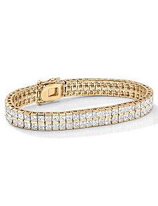 Cubic Zirconia Tennis Bracelet by PalmBeach Jewelry