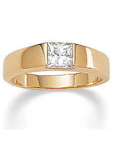 Cubic Zirconia Princess-Cut Ring by PalmBeach Jewelry