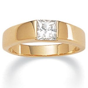 Cubic Zirconia Princess-Cut Ring