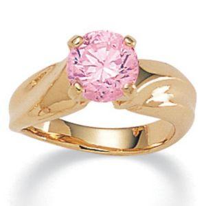 Pink Icecubic zirconia Ring