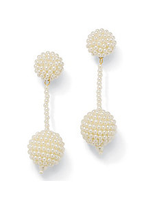 Sim. Pearl Dangle Earrings by PalmBeach Jewelry
