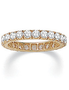 Cubic Zirconia 10k Eternity Band by PalmBeach Jewelry