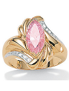 Pink Ice Cubic Zirconia Ring by PalmBeach Jewelry