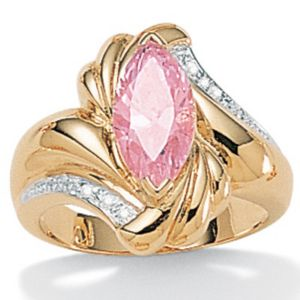 Pink Ice Cubic Zirconia Ring