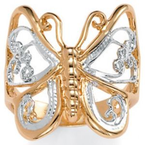 Butterfly 14k Gold-Plated Ring