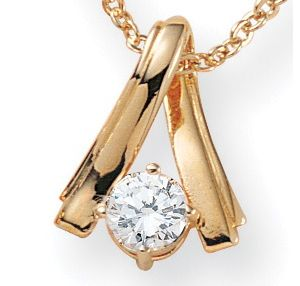 Cubic Zirconia Twist 14k gold-plated Pendant