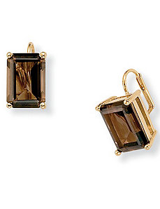 Smoky Quartz Earrings by PalmBeach Jewelry