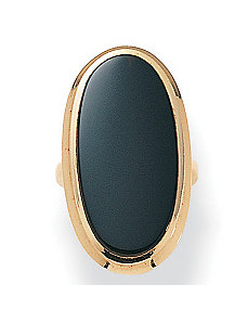 Onyx 14k gold-plated Ring by PalmBeach Jewelry