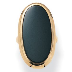 Onyx 14k gold-plated Ring