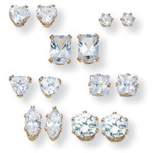7-Paircubic zirconia Earring Set