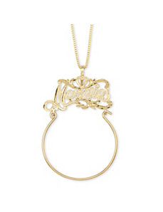 Memories Charm Holder 14k Gold by PalmBeach Jewelry