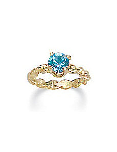 Birthstone 10k Gold Baby Ring Charm by PalmBeach Jewelry