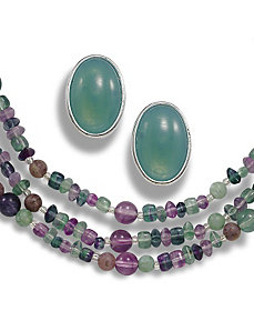 Two-Piece Lucite Beaded Set by PalmBeach Jewelry