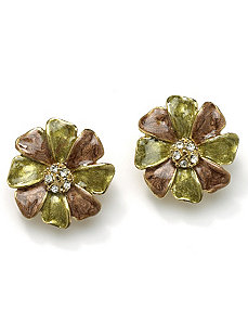 Flower-Shaped Clip-On Earrings by PalmBeach Jewelry