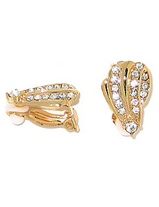 Crystal Clip-On Earrings by PalmBeach Jewelry
