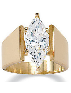 Marquisecubic zirconia Ring by PalmBeach Jewelry