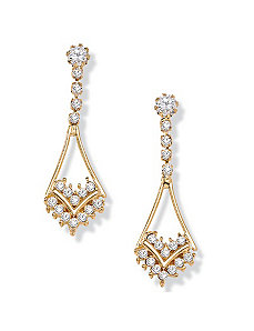 Austrian Crystal Earrings by PalmBeach Jewelry