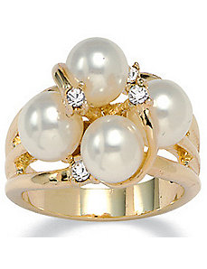 Simulated Pearl Ring by PalmBeach Jewelry