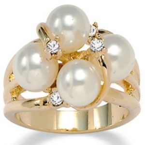 Simulated Pearl Ring