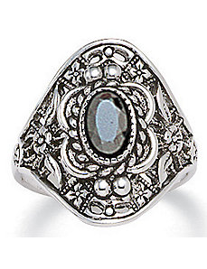 Hematite Vintage-Look Ring by PalmBeach Jewelry