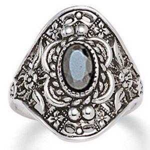 Hematite Vintage-Look Ring