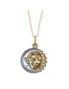 Sun/Moon 14k Pendant by PalmBeach Jewelry