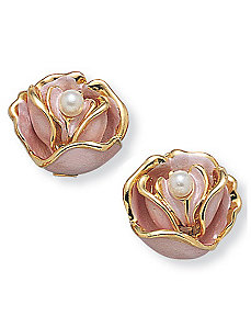 Sim. Pearl Flower Earring by PalmBeach Jewelry