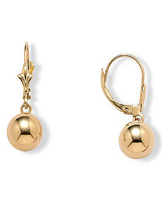 14k Gold Drop Earrings by PalmBeach Jewelry