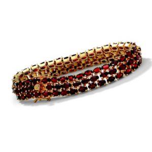 "18k/SS Garnet Bracelet 8 1/2"""