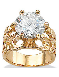 Cubic Zirconia Filigree Ring by PalmBeach Jewelry