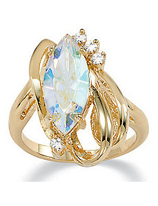 Aurora Borealis Crystal Ring by PalmBeach Jewelry