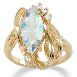 Aurora Borealis Crystal Ring